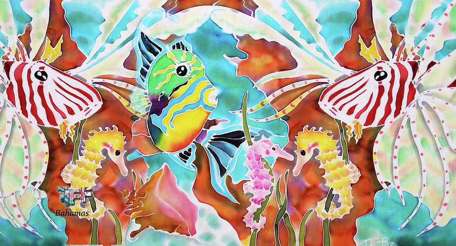 Bahamas Painting - Wonders of the sea mug by Tiff