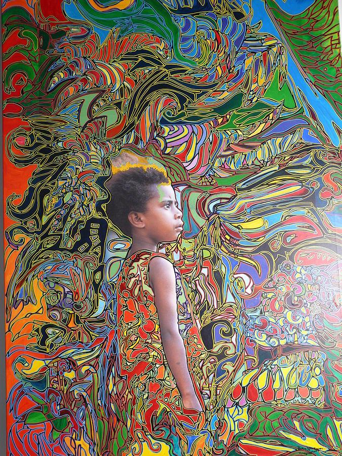 Vanuatu Painting - Wonderseegirl In Vanuatu by Igor Eugen Prokop