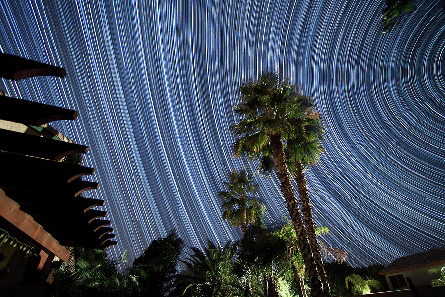 Star Trails Photograph - Wonky Star Trails by Philip Cruden