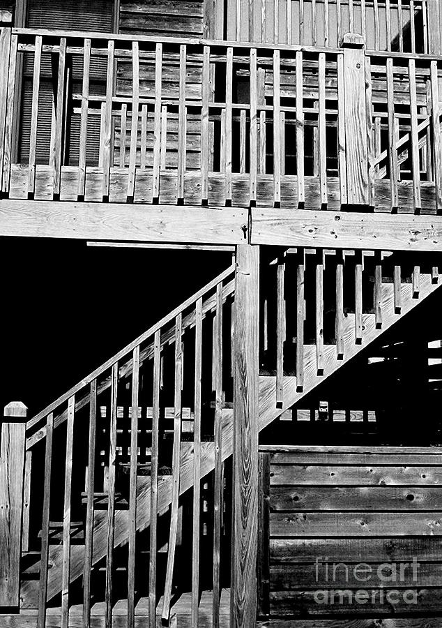 Stairs Photograph - Wood 1 by Meghann Brunney