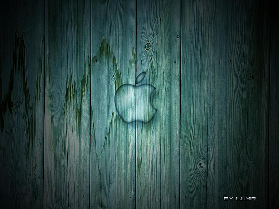 Wallpaper Digital Art - Wood Apple by Ivan Csorgo