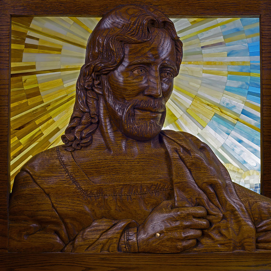 Jesus Photograph - Wood Carving Of Jesus by Cindy D Chinn