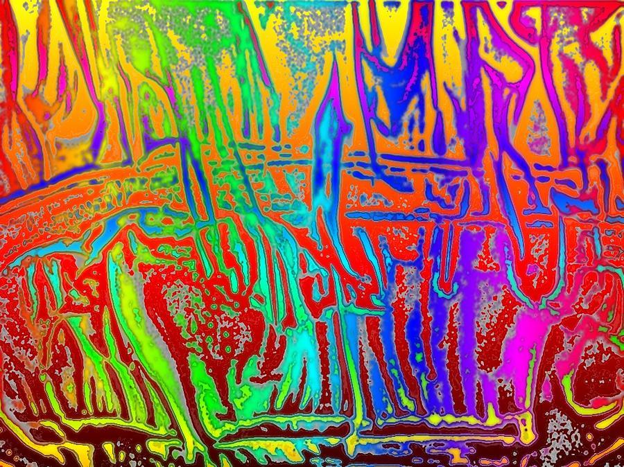 Wood Photograph - Wood Fire Rainbow by Tim Allen