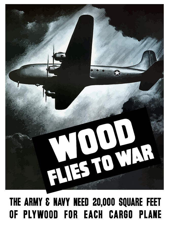 Wwii Painting - Wood Flies To War by War Is Hell Store