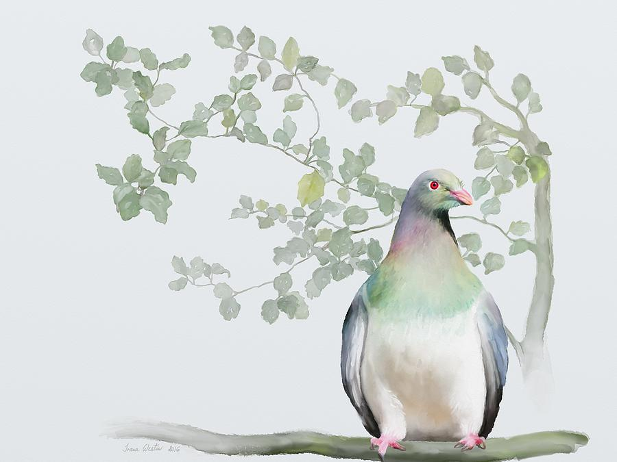New Zealand Painting - Wood Pigeon by Ivana Westin