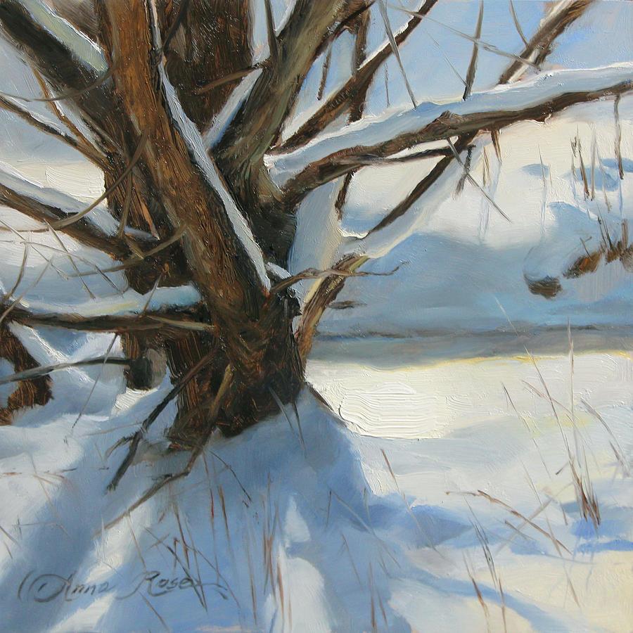 Winter Painting - Wood Run Stream by Anna Rose Bain