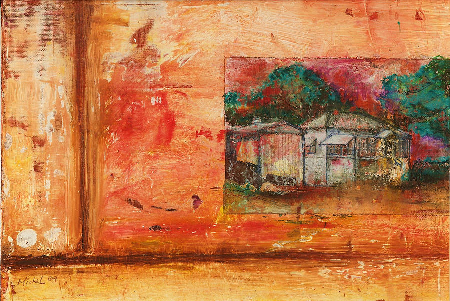 House Painting - Wood Street Burned Down by Michelle Lopate