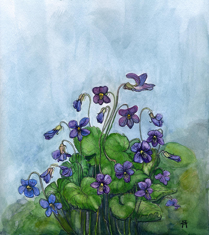 Wood Violets by Katherine Miller