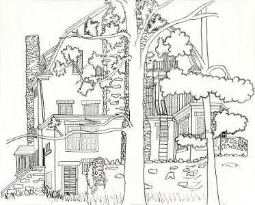 Woodbury Apartments Print by Jim Marzano