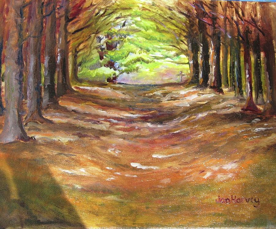 Forest Painting - Wooded Sanctuary by Jan Harvey