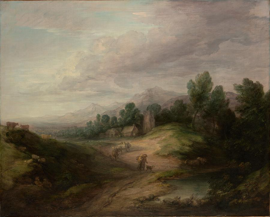 Nature Painting - Wooded Upland Landscapewooded Upland Landscape By Thomas Gainsborough, Circa 1783 by Thomas Gainsborough