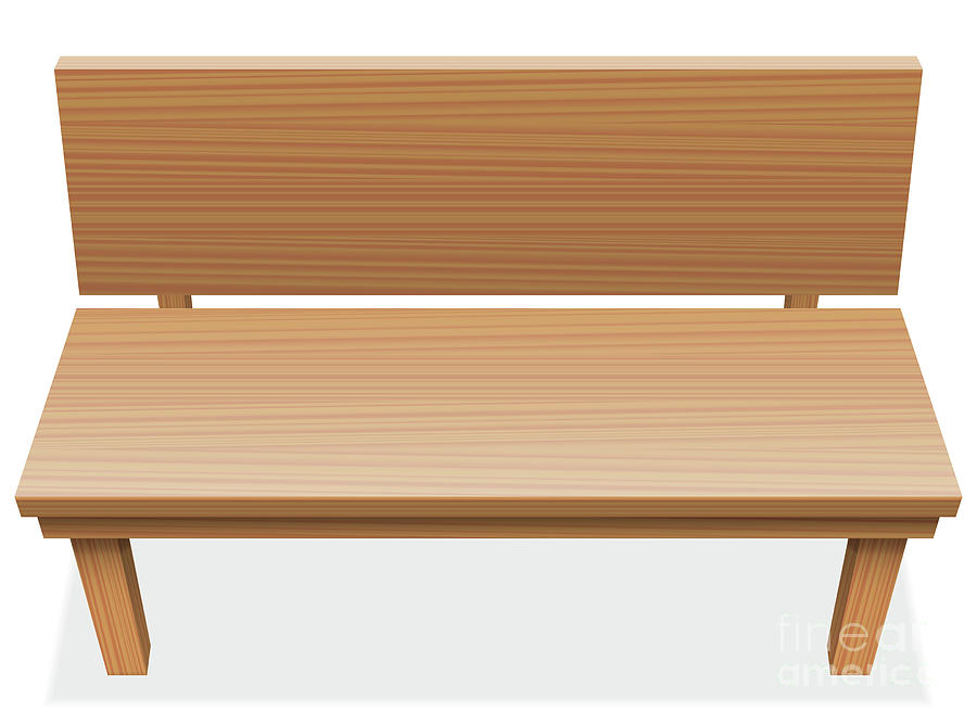 Marvelous Wooden Bench Free Seat Empty Pabps2019 Chair Design Images Pabps2019Com