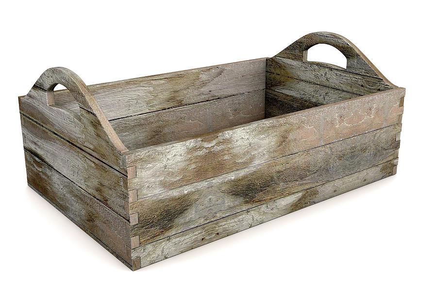 Wooden Digital Art - Wooden Carry Crate by Allan Swart