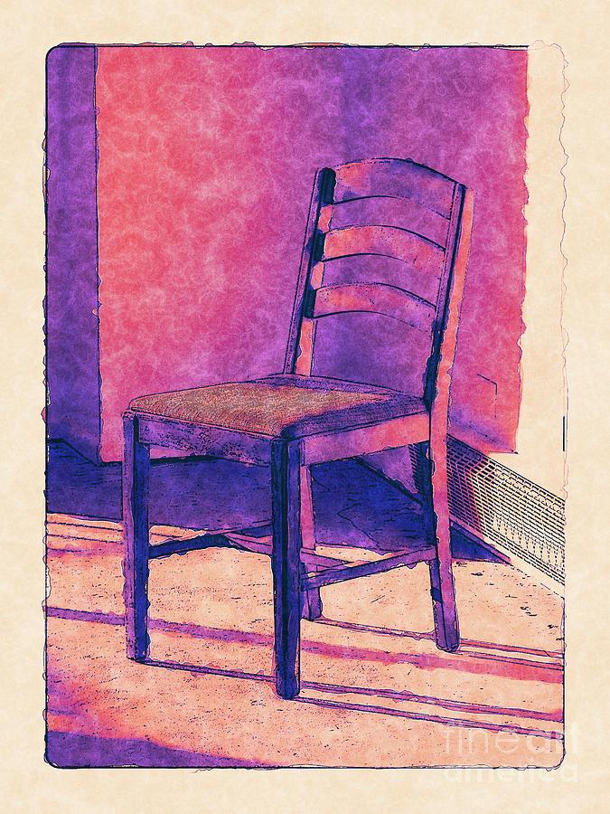 Chair Digital Art - Wooden Chair by Phil Perkins