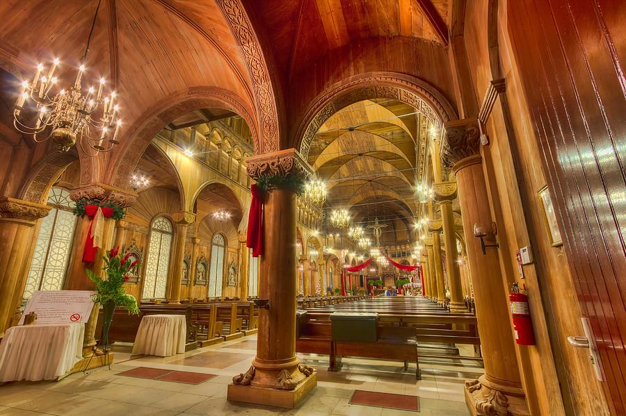 Church Photograph - Wooden Church by Nadia Sanowar