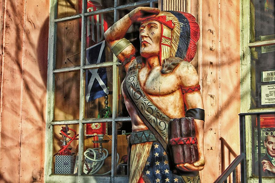 Wooden Cigar Store Indian Photograph by James DeFazio
