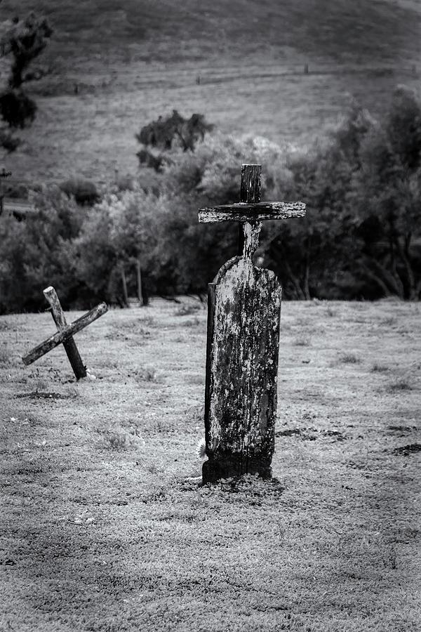Landscape Photograph - Wooden Cross  by Javier Flores