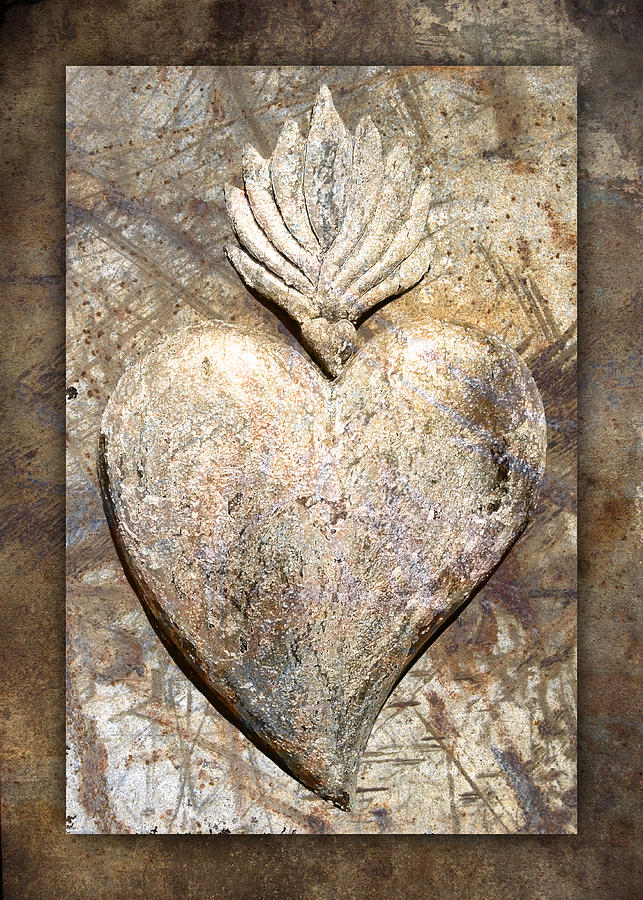 Heart Photograph - Wooden Heart by Carol Leigh