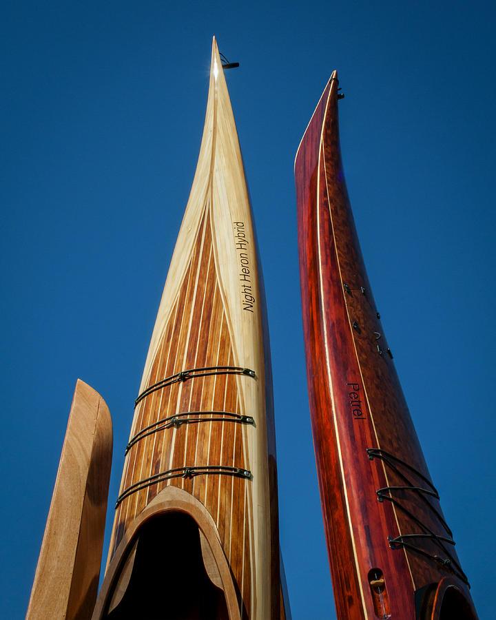 2011 Photograph - Wooden Kayaks by Lauren Brice
