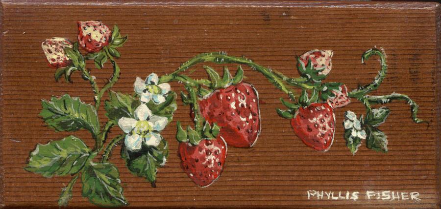 Fruit Digital Art - Wooden Strawberries by Phyllis Mae Richardson Fisher