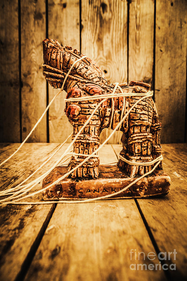 Trojan Horse Photograph - Wooden Trojan Horse by Jorgo Photography - Wall Art Gallery