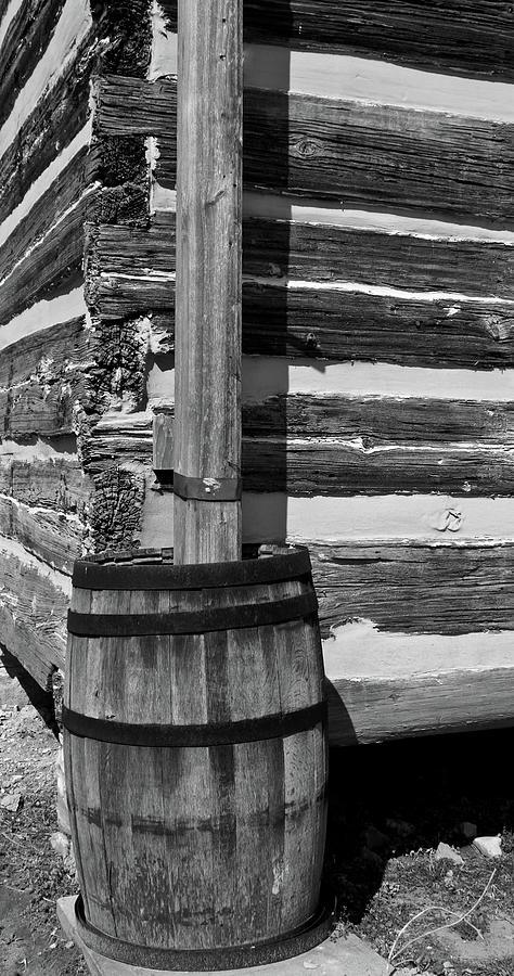 Lawrence Photograph - Wooden Water Barrel by Douglas Barnett