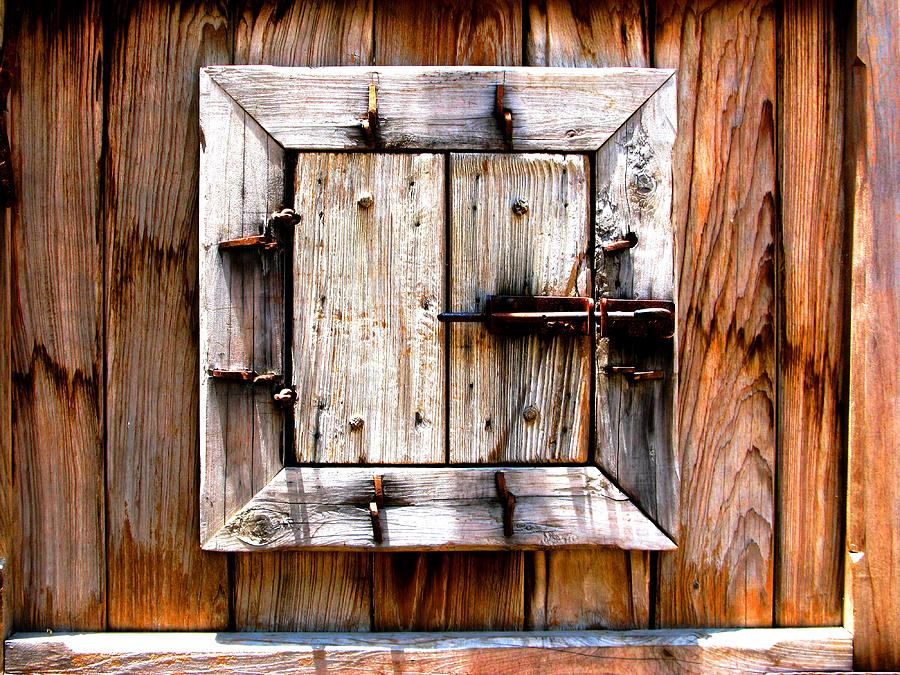Wood Photograph - Wooden Window by Perry Webster