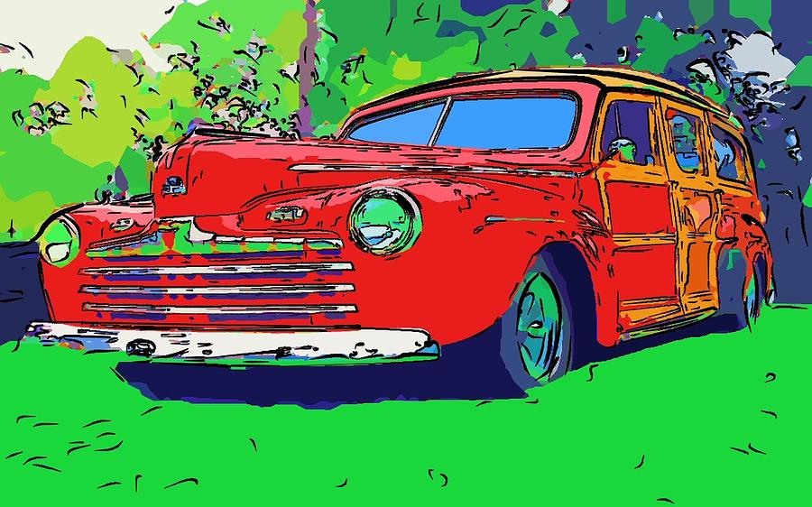 Woodie Digital Art by Gra Howard