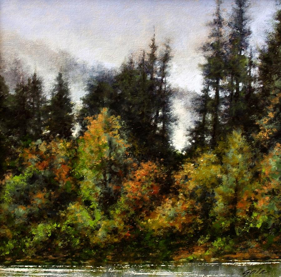 Painting Painting - Woodland Bottoms In April by Jim Gola