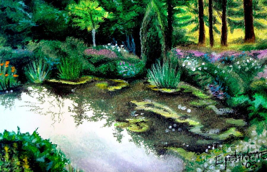 Landscape Pastel - Woodland Mystery by Elizabeth Robinette Tyndall