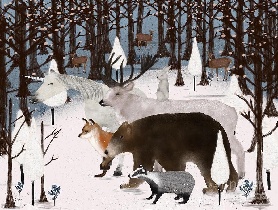 Woodland Animals Painting - Woodland Nature by Bri Buckley
