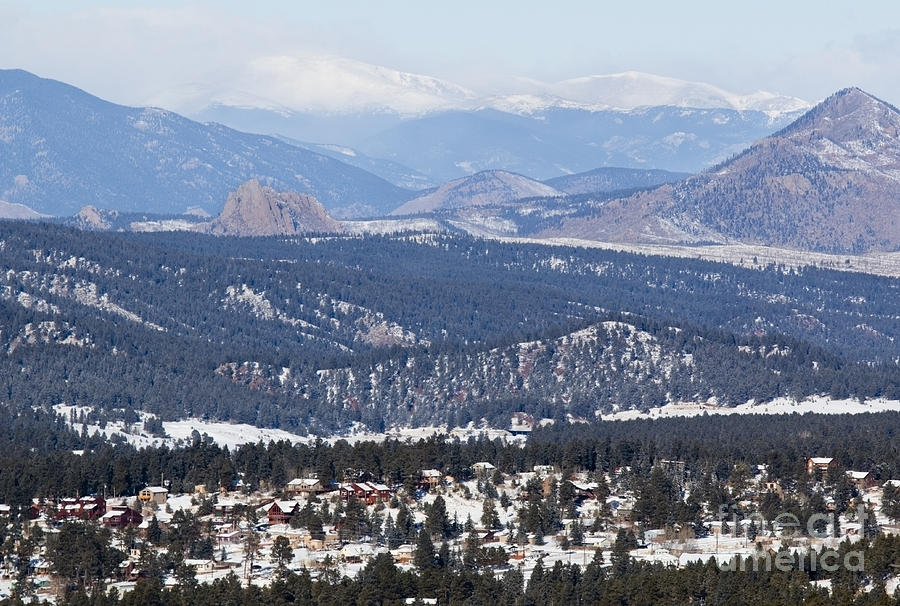 Woodland Park Colorado In Wintertime Photograph
