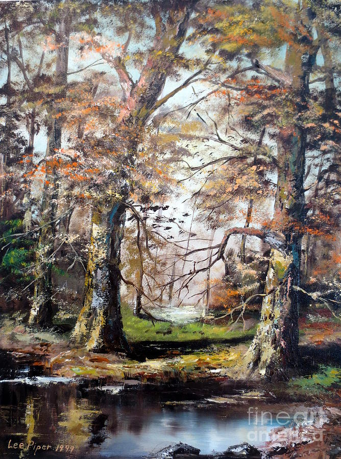 Woods Painting - Woodland Pond  by Lee Piper