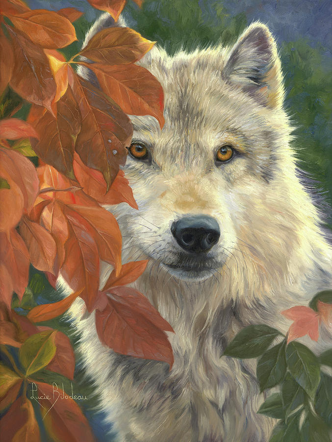 Wolf Painting - Woodland Prince by Lucie Bilodeau