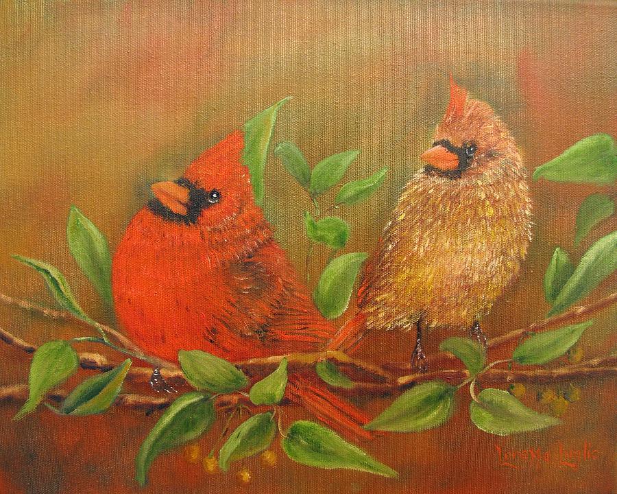 Birds Painting - Woodland Royalty by Loretta Luglio