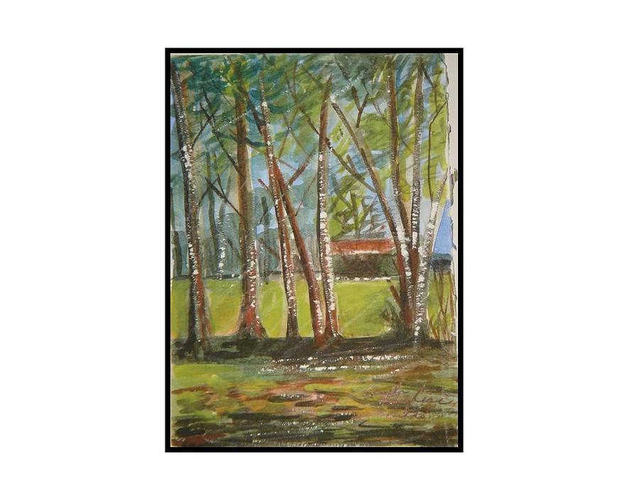 Woodland Series Virginia Greeting Card by Angela Puglisi