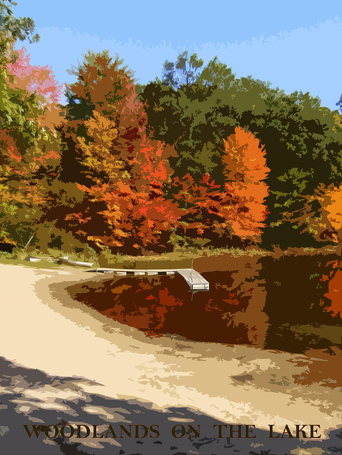 Autumn Photograph - Woodlands On The Lake by Michelle Calkins