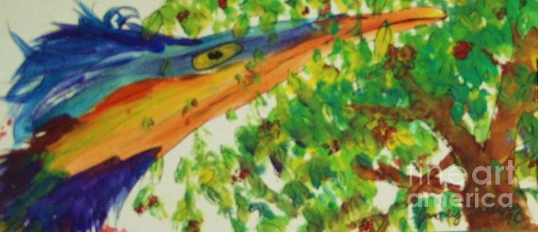 Bird Painting - Woodpecker by Jamey Balester