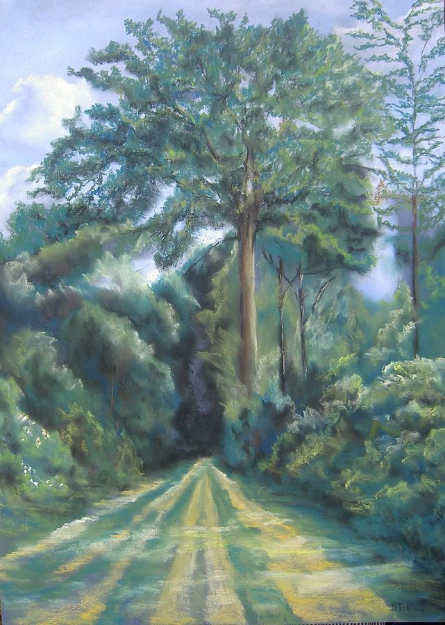Pastel Painting - Woods by Dick Stolp