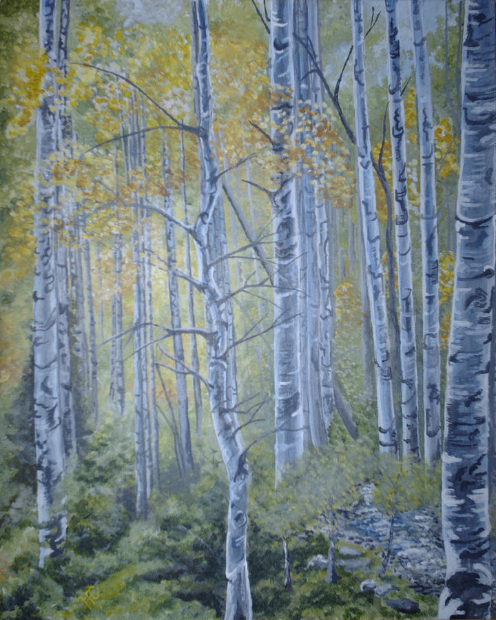 Woods Painting by Harvey Copeland