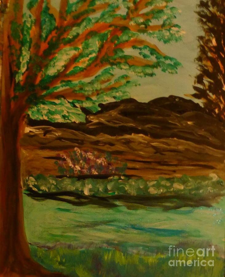 Landscape Painting - Woods by Marie Bulger