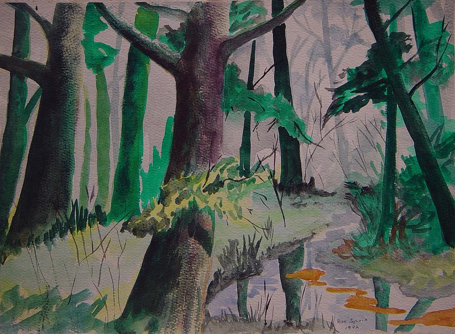 Trees Painting - Woods by Ron Sylvia