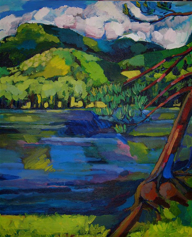 Landscape Painting - Woodstock by Doris  Lane Grey
