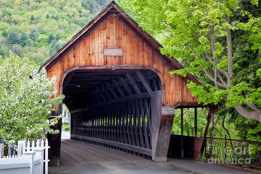 Antique Photograph - Woodstock Middle Bridge by Susan Cole Kelly