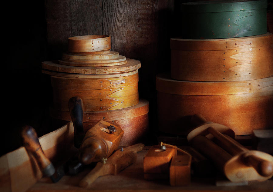 Hdr Photograph - Woodworker - Shaker Box Shop  by Mike Savad