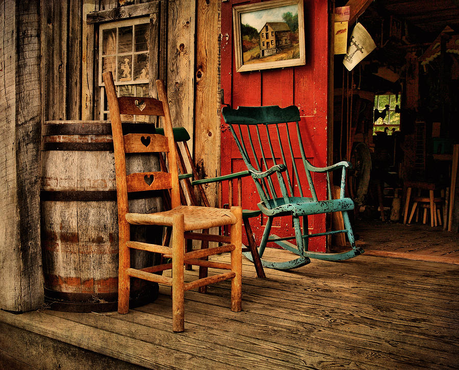 Porches Photograph - Woodworkers Porch by Pat Abbott