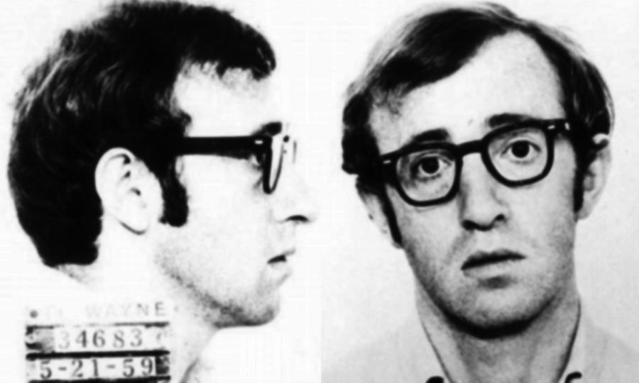 Woody Allen Painting - Woody Allen Mug Shot For Film Character Virgil 1969 by Tony Rubino