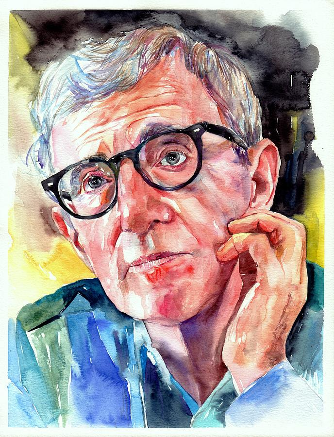 Painting Painting - Woody Allen Portrait Painting by Suzann Sines