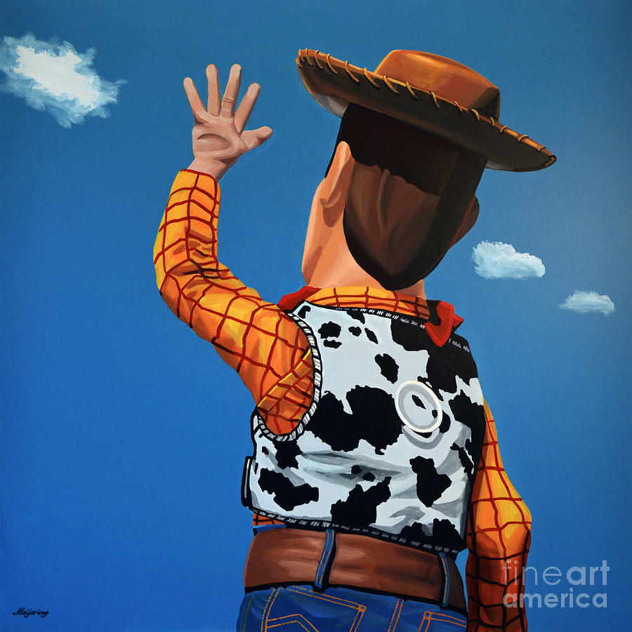 Toy Story Painting - Woody Of Toy Story by Paul Meijering