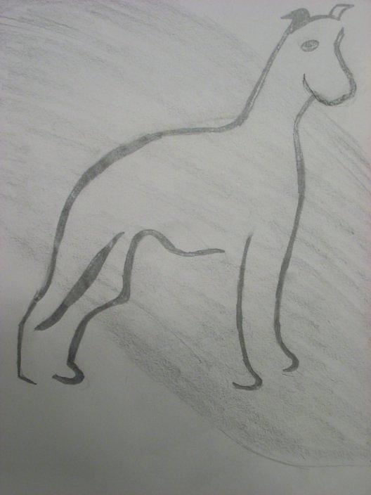 Dog Drawing - Woof by Samantha  Howe